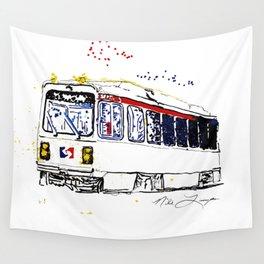 Septa Trolley Art: Philly Public Transportation Wall Tapestry