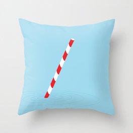 Soda straw Throw Pillow