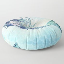 Watercolor Mermaid Floor Pillow