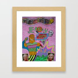 Jersey Juiceheadz Framed Art Print