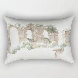 A Part of an Aqueduct in Rome (ca 1809-1812) by Joseph August Knip Rectangular Pillow