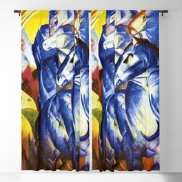 The Tower of Blue Horses by Franz Marc Blackout Curtain