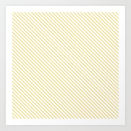 Primrose Yellow Stripe Art Print