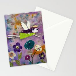 LIVE IN THE SUNSHINE, mixed media art Stationery Cards