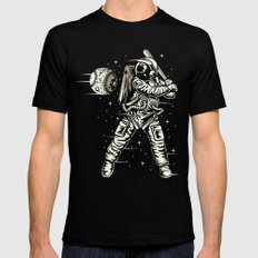 Space Baseball Astronaut Black Mens Fitted Tee X-LARGE
