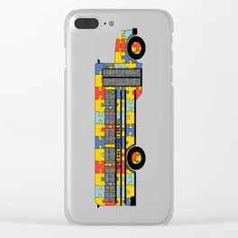Autism Awareness School Bus Clear iPhone Case
