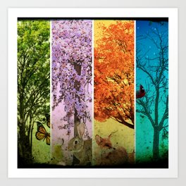 Four Seasons One Picture Art Print