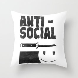 Antisocial Throw Pillow