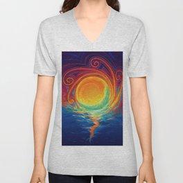 Sun Moon & Stars Unisex V-Neck