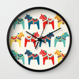 Swedish Horses Wall Clock