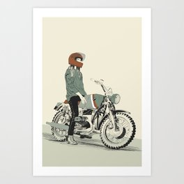The Woman Rider Art Print
