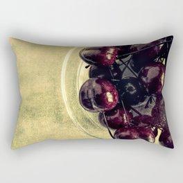 Bowl Of Cherries Modern Cottage Chic Country Art Bistro Art A446 Rectangular Pillow
