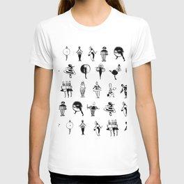 Bauhaus Costume Parties in Ink (Oskar Schlemmer 1924-1926) T-shirt