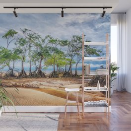 Trees in Line Wall Mural