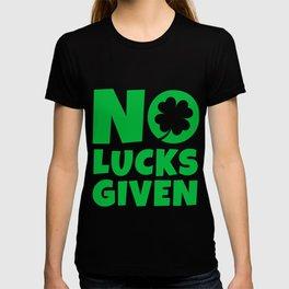 No Lucks Given St Patrick's Day T-shirt