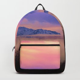 Alaskan Winter Fog Digital Painting Backpack