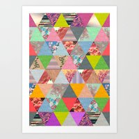 sunset Art Prints featuring Lost in ▲ by Bianca Green