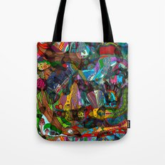 Every thought can change the day when let out in joyful play Tote Bag