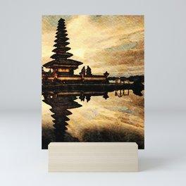 Bali Temple Silhouette Mini Art Print