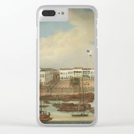 Anglo-Chinese School, The hongs at Canton, 1840 Clear iPhone Case