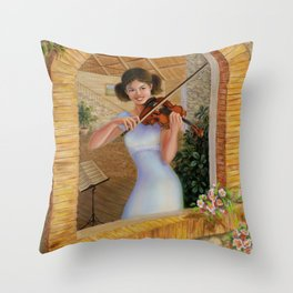 Birdsongs Throw Pillow
