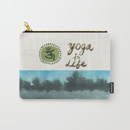 Yoga is Life - Art - Painting - Watercolor Prints - Carry-All Pouch