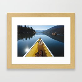 With a View Framed Art Print