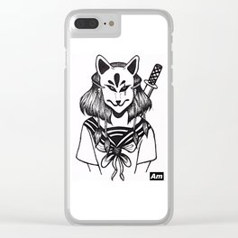 Kitsune Warrior Clear iPhone Case