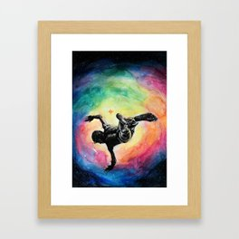 Jump into A Universe of infinite possibilities Framed Art Print
