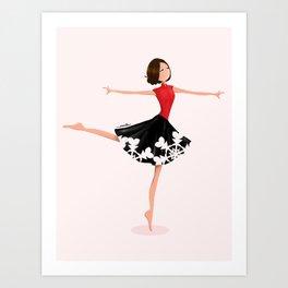Dancing Lady Art Print