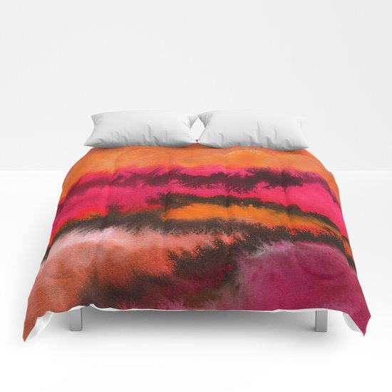 Watercolor abstract landscape 26 Comforters