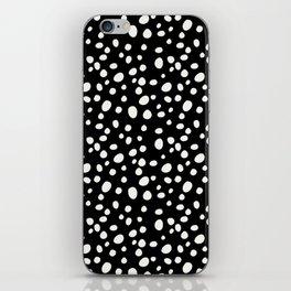 Black and White Dalmatian iPhone Skin