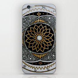 Mandala with star signs and earth elements iPhone Skin