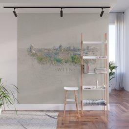 Vienna City Sketch - Digital Art Wall Mural