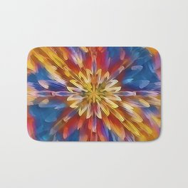 Color Flow Abstract Bath Mat