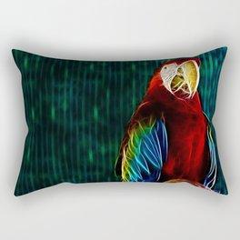 Macaw Portrait Matrix Rectangular Pillow