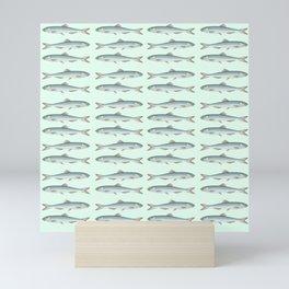 European sardines a school of fish in a row Mini Art Print
