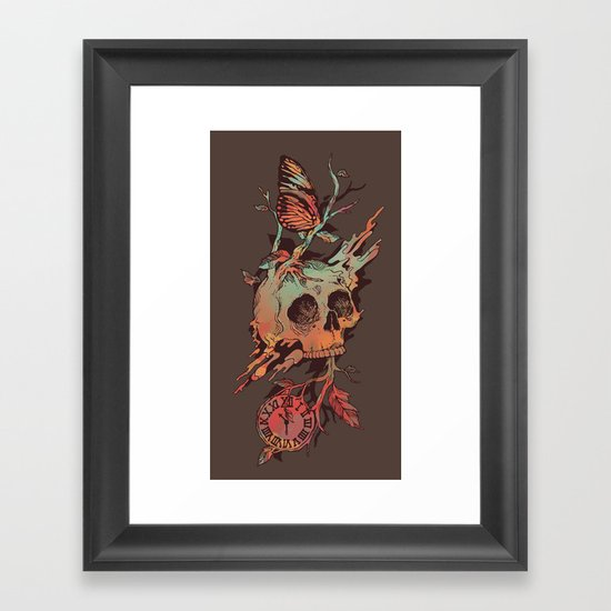 Mors et Natura Framed Art Print
