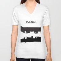 top gun V-neck T-shirts featuring Top Gun Communicating  by NotThatMikeMyers