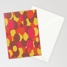 Autumn Retro Circles Design Stationery Cards