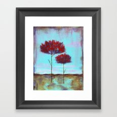 Cherished, Abstract Landscape Skinny Trees Framed Art Print