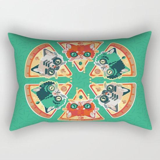 Pizza Slice Cats  Rectangular Pillow