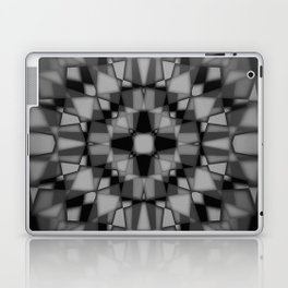 Dark kaleidoscope pattern Laptop & iPad Skin