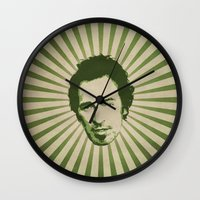 springsteen Wall Clocks featuring The Boss by Durro