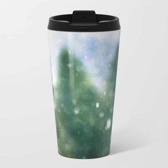 Winter Forest Flurries Metal Travel Mug