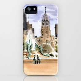 The View from Logan Circle iPhone Case