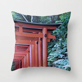 Inari Gates Galore Throw Pillow