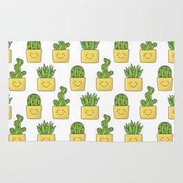 Cactus love pattern Rug