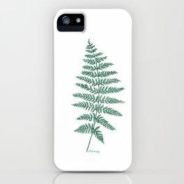 New Zealand Tree Fern iPhone Case