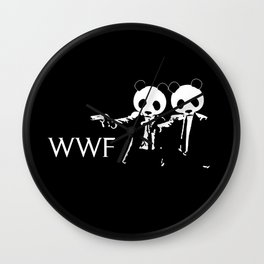 pulp Fiction Panda Wall Clock